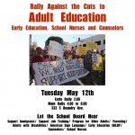 Rally against the cuts to Adult Education, Early Education, School Nurses, and Counselors