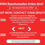 CALL TO ACTION: Vote YES on Senate Amendment 2100 and Put Community Schools at the Center of ESEA Reauthorization