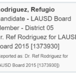 Marshall Tuck's Financial Support of Convicted Felon Ref Rodriguez
