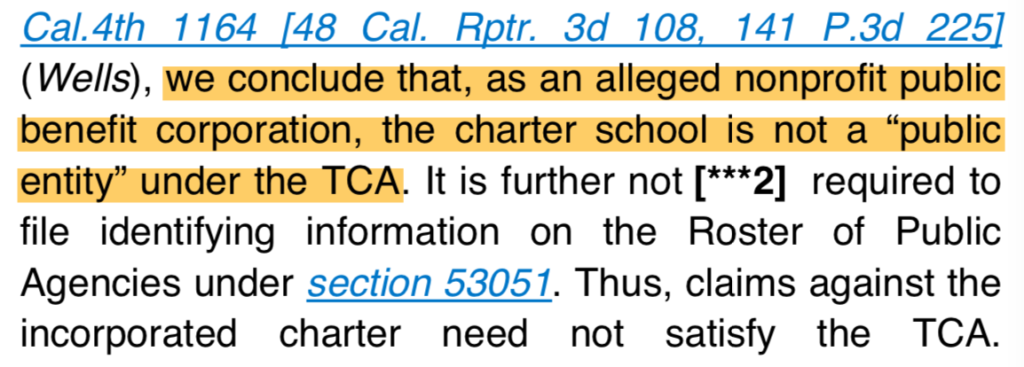 Passage from (Knapp v. Palisades Charter High School (2007) 146 Cal.App.4th 708 [53 Cal.Rptr.3d 182].)